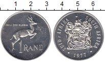 Изображение Монеты ЮАР 1 ранд 1977 Серебро Proof-