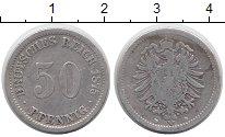 Изображение Монеты Европа Германия 50 пфеннигов 1875 Серебро XF