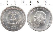 Изображение Монеты ГДР 20 марок 1970 Серебро UNC-