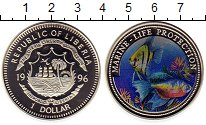 Изображение Монеты Либерия 1 доллар 1996 Медно-никель Proof