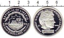 Изображение Монеты Африка Либерия 5 долларов 1993 Серебро Proof
