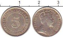 Изображение Монеты Стрейтс-Сеттльмент 5 центов 1910 Серебро XF