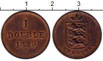 Изображение Монеты Гернси 1 дубль 1889 Медь XF