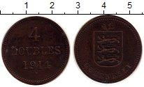 Изображение Монеты Великобритания Гернси 4 дубля 1914 Медь XF