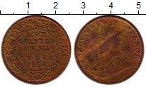 Изображение Монеты Индия 1/4 анны 1924 Бронза XF