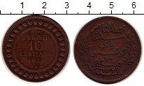 Изображение Монеты Африка Тунис 10 сантим 1911 Бронза XF