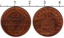 Изображение Монеты Германия Пруссия 2 пфеннига 1861 Медь VF