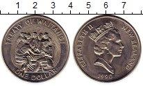 Изображение Мелочь Новая Зеландия 1 доллар 1990 Медно-никель UNC-