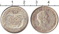 Изображение Монеты Колумбия 20 сентаво 1941 Серебро XF