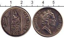 Изображение Монеты Фиджи 20 центов 2003 Медно-никель UNC