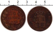 Изображение Монеты Греция 10 лепт 1851 Медь VF