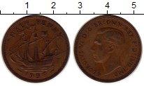 Изображение Монеты Европа Великобритания 1/2 пенни 1937 Медь XF