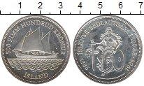 Изображение Монеты Европа Исландия 500 крон 1986 Серебро UNC-