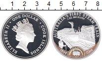 Изображение Монеты Острова Кука 1 доллар 2004 Серебро Proof- 150-летие первой жел