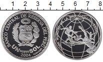 Изображение Монеты Южная Америка Перу 1 соль 2004 Серебро Proof