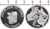 Изображение Монеты Конго 500 франков 1998 Серебро Proof