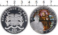 Изображение Монеты Бенин 500 франков 2014 Серебро Proof
