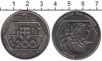 Изображение Монеты Европа Португалия 200 эскудо 1991 Медно-никель UNC-