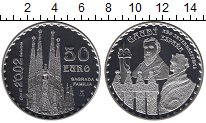 Изображение Монеты Европа Испания 50 евро 2002 Серебро Proof-