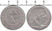 Изображение Монеты Третий Рейх 5 марок 1936 Серебро XF А,Пауль Гинденбург