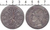 Изображение Монеты Европа Бельгия 5 франков 1850 Серебро XF