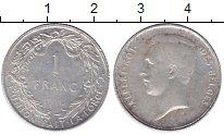 Изображение Монеты Бельгия 1 франк 1910 Серебро XF Алберт