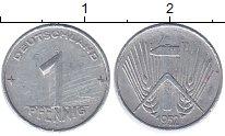 Изображение Монеты ГДР 1 пфенниг 1952 Алюминий XF Колос