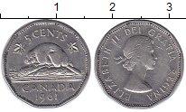 Изображение Монеты Северная Америка Канада 5 центов 1961 Медно-никель XF