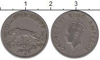 Изображение Монеты Индия 1/4 рупии 1946 Медно-никель VF Георг VI