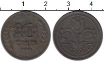 Изображение Монеты Европа Нидерланды 10 центов 1942 Цинк XF