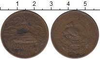 Изображение Монеты Мексика 20 сентаво 1951 Бронза XF