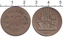 Изображение Монеты Исландия 10 крон 1971 Медно-никель XF