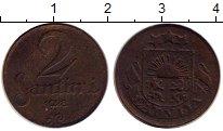 Изображение Монеты Латвия 2 сантима 1928 Медь VF