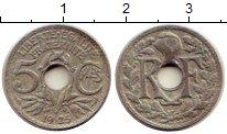 Изображение Монеты Европа Франция 5 сантим 1925 Медно-никель VF