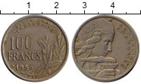Изображение Монеты Европа Франция 100 франков 1955 Медно-никель XF