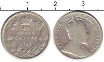 Изображение Монеты Северная Америка Канада 10 центов 1907 Серебро VF