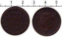 Изображение Монеты Северная Америка Канада 1 цент 1888 Медь XF