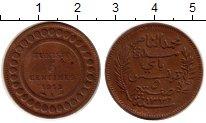 Изображение Монеты Тунис 5 сантим 1912 Медь XF Французский протекто