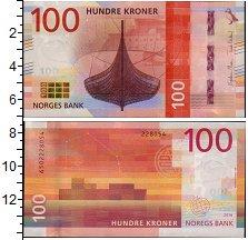 Изображение Банкноты Норвегия 100 крон 2016  UNC