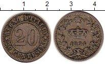 Изображение Монеты Европа Италия 20 сентесим 1894 Медно-никель XF-