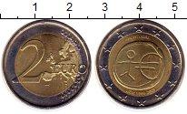 Изображение Монеты Португалия 2 евро 2009 Биметалл UNC- 10 лет единой европе