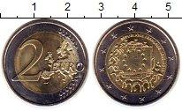 Изображение Монеты Франция 2 евро 2015 Биметалл UNC- 30 лет флагу ЕС