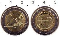 Изображение Монеты Италия 2 евро 2009 Биметалл UNC- 10 лет Экономическом