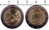 Изображение Монеты Германия 2 евро 2015 Биметалл UNC- 30  лет  флагу  ЕС