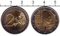 Изображение Монеты Люксембург 2 евро 2014 Биметалл UNC- 175  лет  независимо
