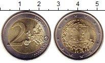 Изображение Монеты Австрия 2 евро 2015 Биметалл UNC 30 лет флагу Евросою