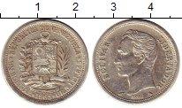 Изображение Монеты Венесуэла 1 боливар 1965 Серебро XF Симон Боливар