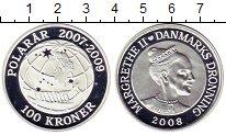 Изображение Монеты Дания 100 крон 2008 Серебро Proof Маргрете II.  Междун