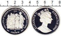 Изображение Монеты Гибралтар 1 крона 2000 Серебро Proof Елизавета II.  Жизнь
