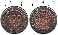 Изображение Мелочь Африка Руанда 100 франков 2007 Биметалл UNC-